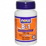 Now Foods Witamina B1 (TIAMINA) 100 mg 100 tabletek