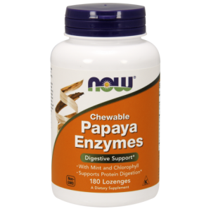 Now Foods Papaya Enzymes - Enzymy trawienne 180 pastylek do ssania