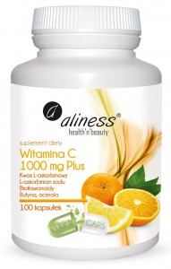 Aliness Witamina C 1000 mg Plus x 100 kaps VEGE