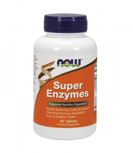 NOW FOODS SUPER ENZYME 90 tabs super enzymy